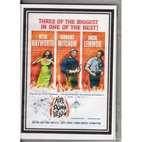 FIRE DOWN BELOW - ROBERT MITCHUM & RITA HAYWORTH  - ALL REGION DVD