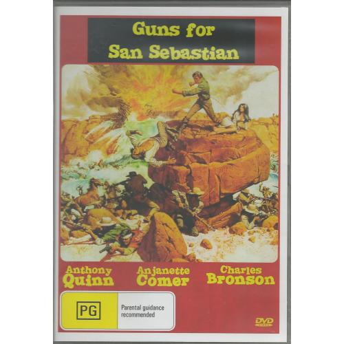GUNS OF SAN SEBASTIAN - CHARLES BRONSON & ANTHONY QUINN  ALL REGION DVD