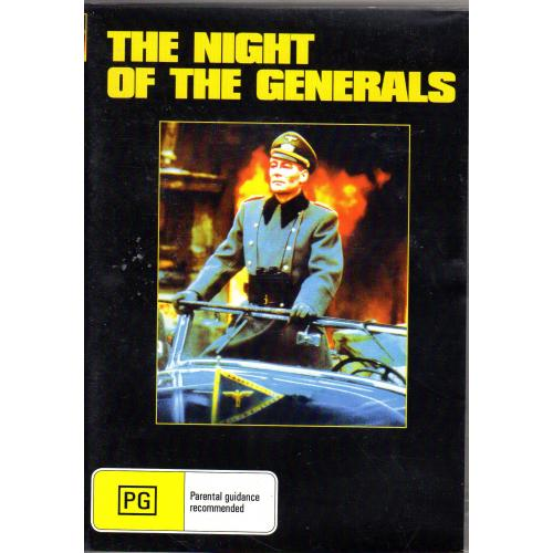 NIGHT OF THE GENERALS - PETER O'TOOLE & OMAR SHARIF ALL REGION DVD