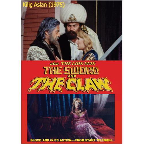 THE SWORD AND THE CLAW aka THE LION MAN DVD = Kiliç Aslan (1975) TURKISH ACTION AND ADVENTURE Eng Dubbed