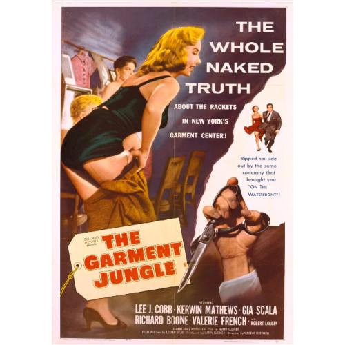THE GARMENT JUNGLE DVD = LEE J. COBB GIA SCALA RICHARD BOONE KERWIN MATTHEWS VALERIE FRENCH