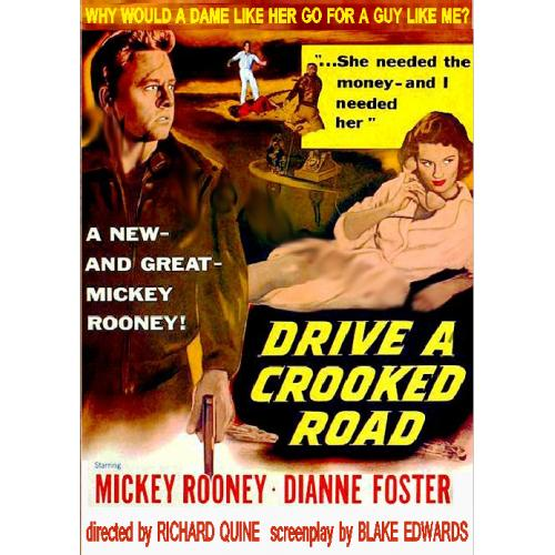 DRIVE A CROOKED ROAD DVD = MICKEY ROONEY DIANNE FOSTER