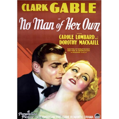 NO MAN OF HER OWN DVD = CAROLE LOMBARD CLARK GABLE = 1932 PRE-CODE