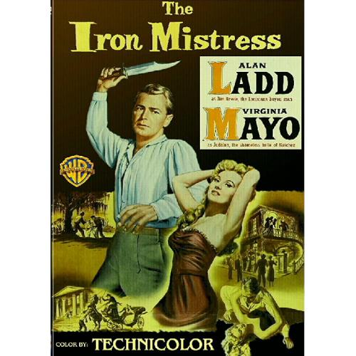 THE IRON MISTRESS DVD = ALAN LADD VIRGINIA MAYO