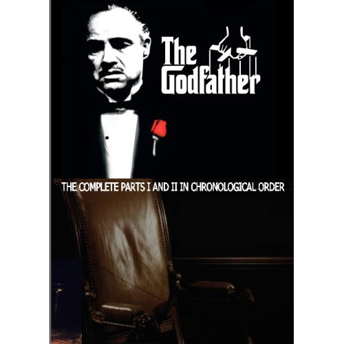 THE GODFATHER EPIC 1901 - 1959 DVD = COMPLETE PARTS 1 & 2 IN CHRONOLOGICAL ORDER INCLUDES EXTRA SCENES = 2 DISC SET