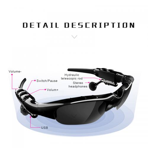 Fashion Sunglasses High Quality Bluetooth 5.0 Earphone Headset X8S Earphones Smart Glasses with Wireless Earbuds
