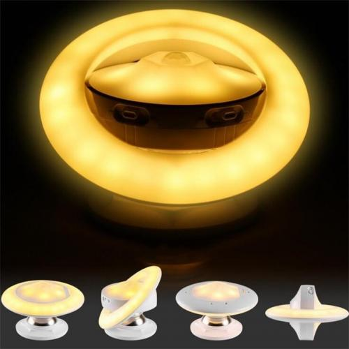 NEW UFO Shape USB Charge Or Battery Power Sensor Led Night Lamp 360 Degree Rotating Step Wall Light Lamp for Hallway Closet