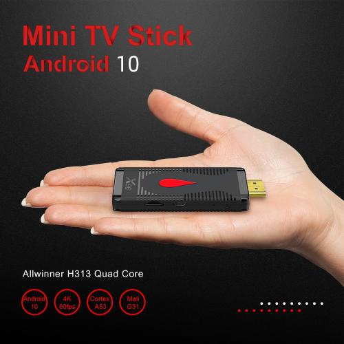 Android 10 TV Stick X96 S400 Allwinner H313 Quad Core 2GB 16GB Smart tv box 4K 60fps H.265 2.4G Wifi Google Player TV Box Dongle