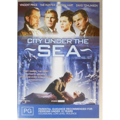 CITY UNDER THE SEA 1964 Tab Hunter, Vincent Price ( War-Gods of the Deep.